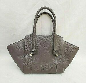RADLEY-TAUPE-BROWNIE-GREY-LEATHER-MEDIUM-SIZE-HAND-BAG-VGC-FREE-UK-P-amp-P