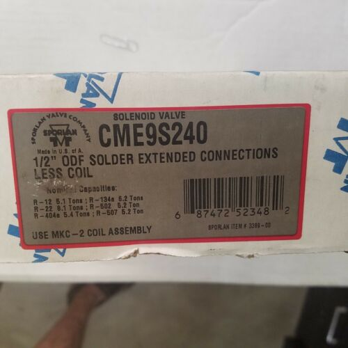 "Sporlan CME9S240 solenoid valve brand new in box 1//2/""OD"