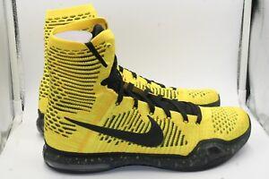 finest selection 72789 fa791 Image is loading Nike-Kobe-X-Elite-Coda-Tour-Yellow-Black-