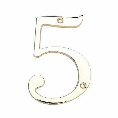 """Baldwin 90673-030 5/"""" House Number /'3/' POLISHED BRASS New in Package!"""