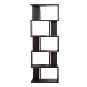 Mobili rebecca bookcase shelving unit 5 shelves mdf wenge for Mobili mdf