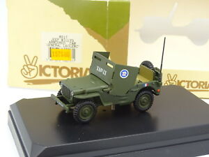 Vitesse-Victoria-Militaire-Army-1-43-Jeep-Willys-Armoured-Car-General-Leclerc