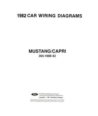 1982 Ford Mustang, Capri Electrical Wiring Diagrams Schematics Factory OEM  | eBayeBay