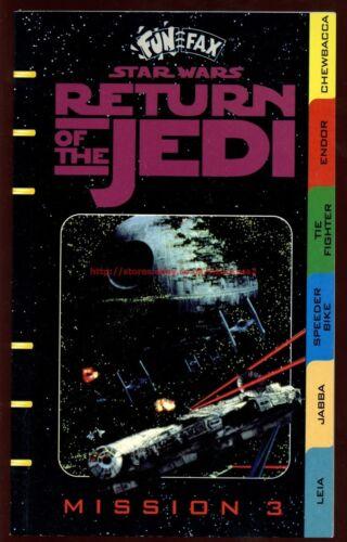 Star Wars ROTJ Fun Fax Mission 3 Book