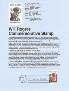 7923-15c-Will-Rogers-Stamp-1801-USPS-Souvenir-Page