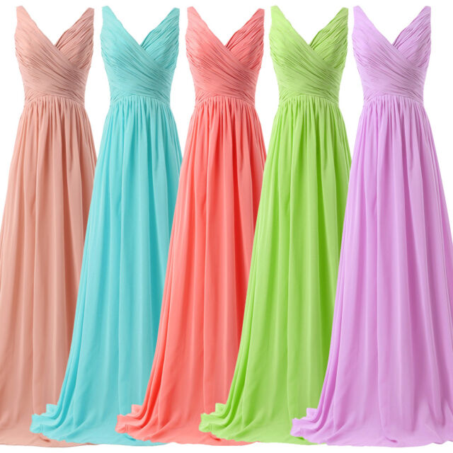 LONG graduation Homecoming Bridesmaid Evening Formal Prom Party Gowns Dress Plus