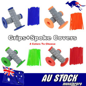 Hand-Grips-Spoke-Wraps-Cover-Handgrips-Grips-4-RMX450-RM85-DRZ250-MX-TRAIL-BIKE