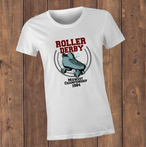 Roller Derby CHAMPIONNAT T-Shirt-roller derby fans rétro années quatre-vingts Tee Design