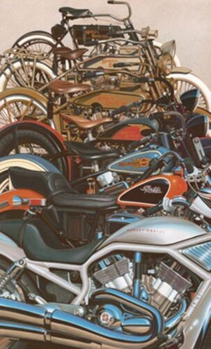 Harley Davidson Artwork Lithograph 100 Great Years Painting by Scott Jacobs