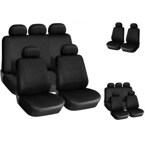 Black-Car-Seat-Covers-Protectors-Universal-washable-Dog-Pet-full-set-front-rear