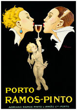Vintage Portugal WINE POSTER ART PRINT - PORTO RAMOS PINTO by Rene Vincent 28x40