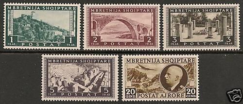 Albania 1939 MI 308-312 MNH VF