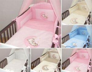 3 Teiliges Baby Bettwäsche Set Passend Zu Gitter Kinderbett 120x60