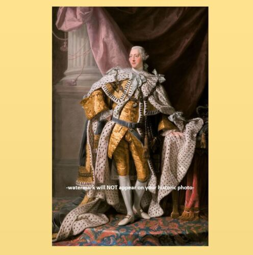 King George III PHOTO Art Coronation,United Kingdom Great Britain 1761 by Ramsay