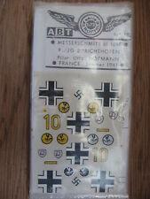 1/72 ABT DECAL N° 103 MESSERSCHMITT BF 109 9/JG2 RICHTOFFEN 1941 HOFMANN