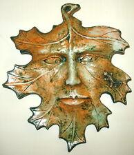 Vintage SeasonLeaf Man Lizard Mask Wall Plaque Terracotta