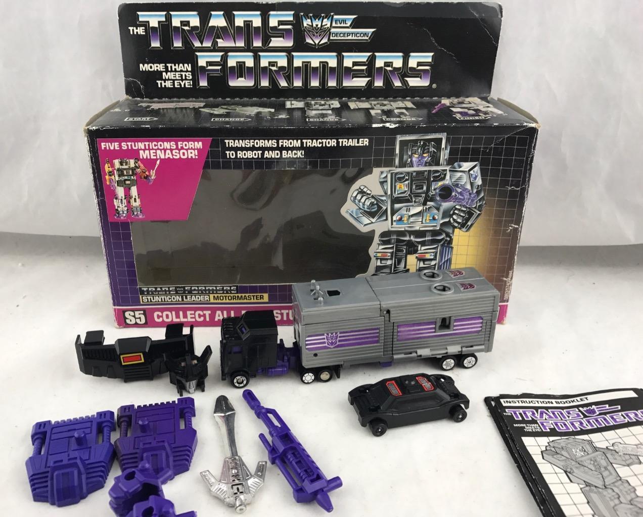 Transformers Original G1 1986 Motormaster Complete w  Box for Menasor