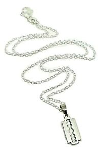 Razor-Lame-Pendentif-Peaky-Blinders-Petit-18-Inch-Chaine-Mobster-Gang-Collier