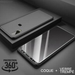 Etui Coque intégrale 360 Pour Samsung A10/A20e/A40/A50 + Vitre Verre trempé