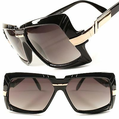 Look Rich Swag Hip Hop Rapper Vintage Mens Womens Square Black Gold Sunglasses