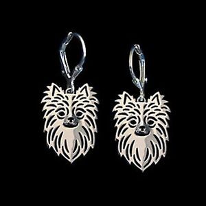 Chihuahua-Long-Hair-Dog-Earrings-Fashion-Jewellery-Silver-Plated-Leverback-Hook