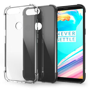 size 40 edb96 77795 Details about OnePlus 5T Clear Gel Case -TPU Silicone Best Grip Back  Protective Phone Cover UK