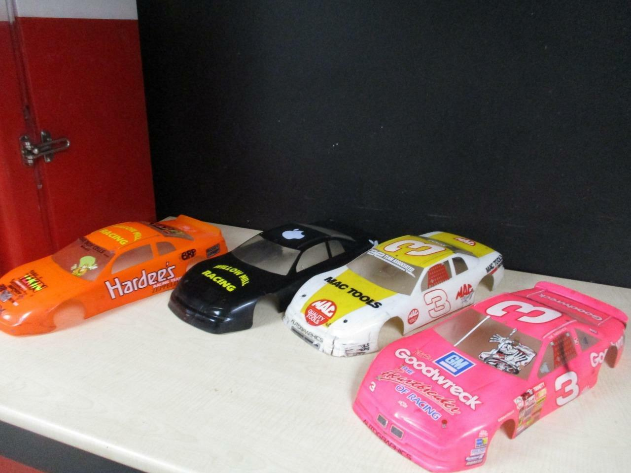 Rare lot of RC 1 10 NASCAR Goodwrench Hardees, MAC Tools Bodies LOOK