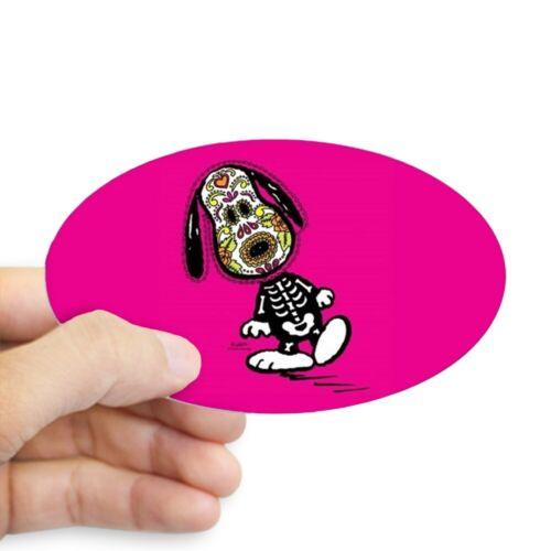 1646829950 Oval CafePress Day Of The Dog Snoopy Sticker