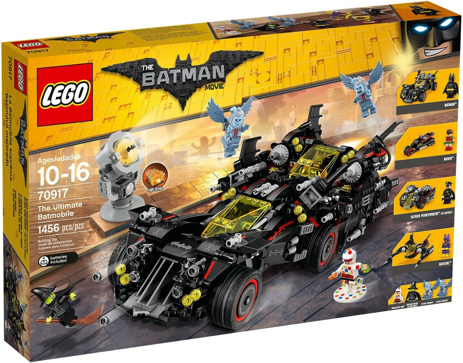 LEGO THE BATMAN MOVIE SUPER HEROES BATMOBILE 70917