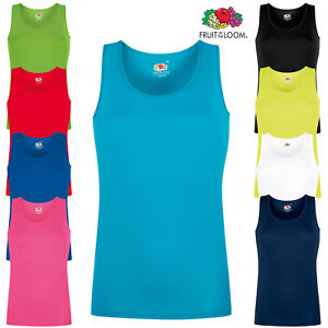 f90cc8e63ccf4 Fruit of the Loom Ladies Performance Sports Fast Dry Wicking Vest ...