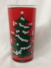 WAECHTERSBACH GERMANY CHRISTMAS TREE GLASS TUMBLER 12 OZ WHITE DOTS ON TREE