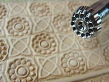 Craft Japan - #G602 11-Seed Flower Center Geometric Stamp (Leather Tool)
