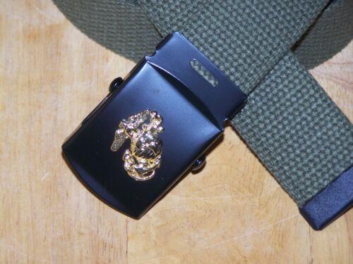 USMC Belt /& Buckle Web Marine Corps Military Style Semper Fi Globe Anchor  P38
