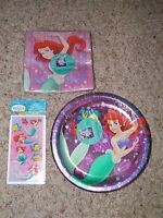 The Little Mermaid Party Supplies(plates/napkins/stickers) Lot-