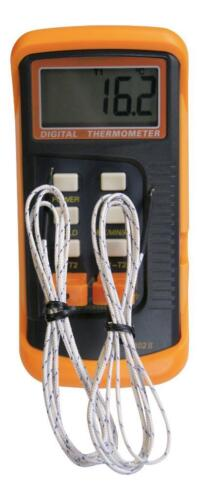 Dual channel K Type Digital Thermocouple Thermometer 6802 II 2 x k type sensors
