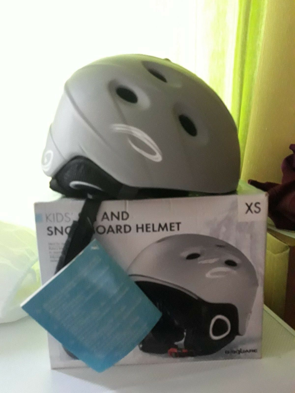 B Square Ski Snowboard Snow Sports Helmet XS Extra small 48-50 cm Grey