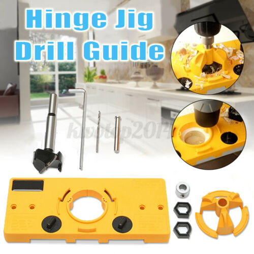 35MM Cup Style Concealed Hinge Jig Drill Guide Door Hole Locator Punching Device
