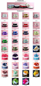 DOUBLE-FACED-SATIN-Ribbon-50-100yards-Roll-8-sizes-34-colors-100-polyester