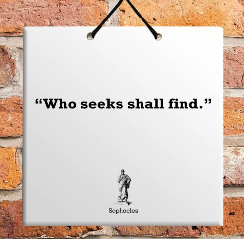 Sophocles Quote TABLET Ceramic Wall Hanging TILE Plaque Home Decor Gift Sign