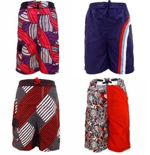 NWT Toobydoo Boy/'s Red Blue Striped Board Shorts $45 Size 9//10