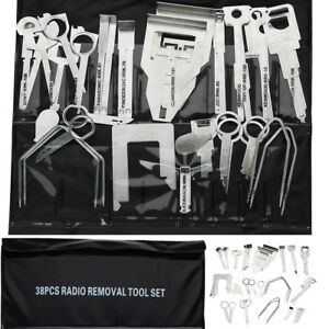 38x-Cle-extraction-demontage-autoradio-stereo-retrait-outil-garniture-voiture-BR