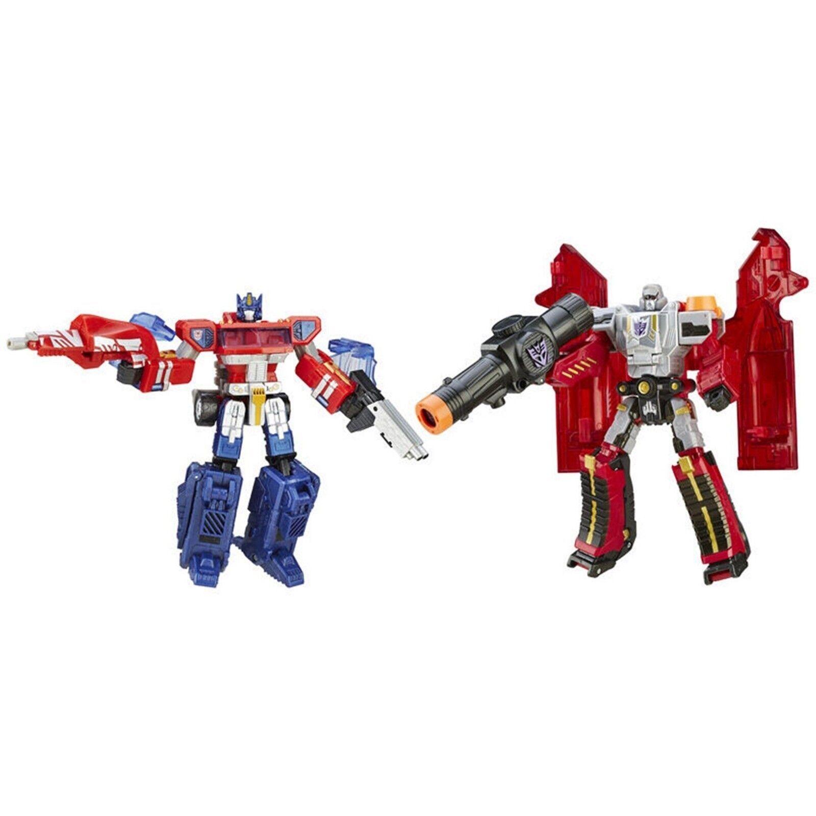Transformers uno deberá Soporte uno caerán edades 8 Juguete Optimus Prime Megatron