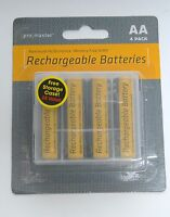 Promaster Set Of 4 Nimh 2700 Mah Rechargeable Aa Batteries + Case Battery 6363