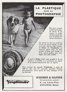 Publicité VOIGTLANDER appareil photo chien St Bernard dog vintage ad 1932 - 11h