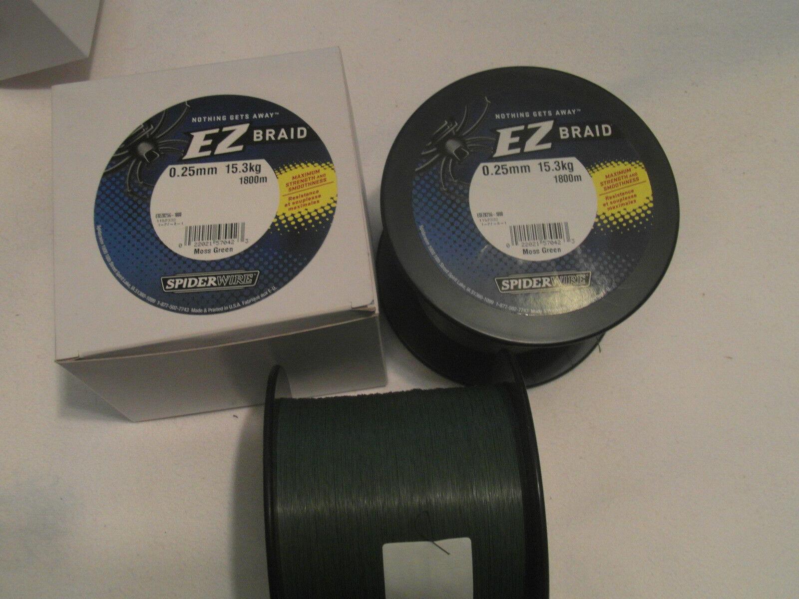 SPIDERWIRE EZ Braid 1800m-025mm-15,3 KG-Moss vert