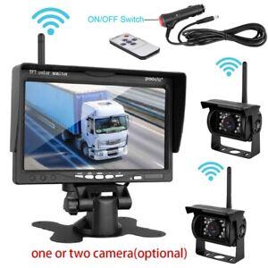 Wireless Car Backup Camera Rear View HD Parking System Night Vision+ 7'' Monitor