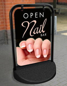 Image Is Loading NAIL BAR PAVEMENT SIGN ADVERTISING SHOP ALUMINIUM DISPLAY