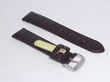 "DI-Modell Genuine Calf Leather Ostrich Grain 20 mm D' BROWN Watch Band ""TIVOLI"""