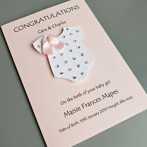 Baby Boy or Girl Card Congratulations New Big Sister Personalised   Handmade