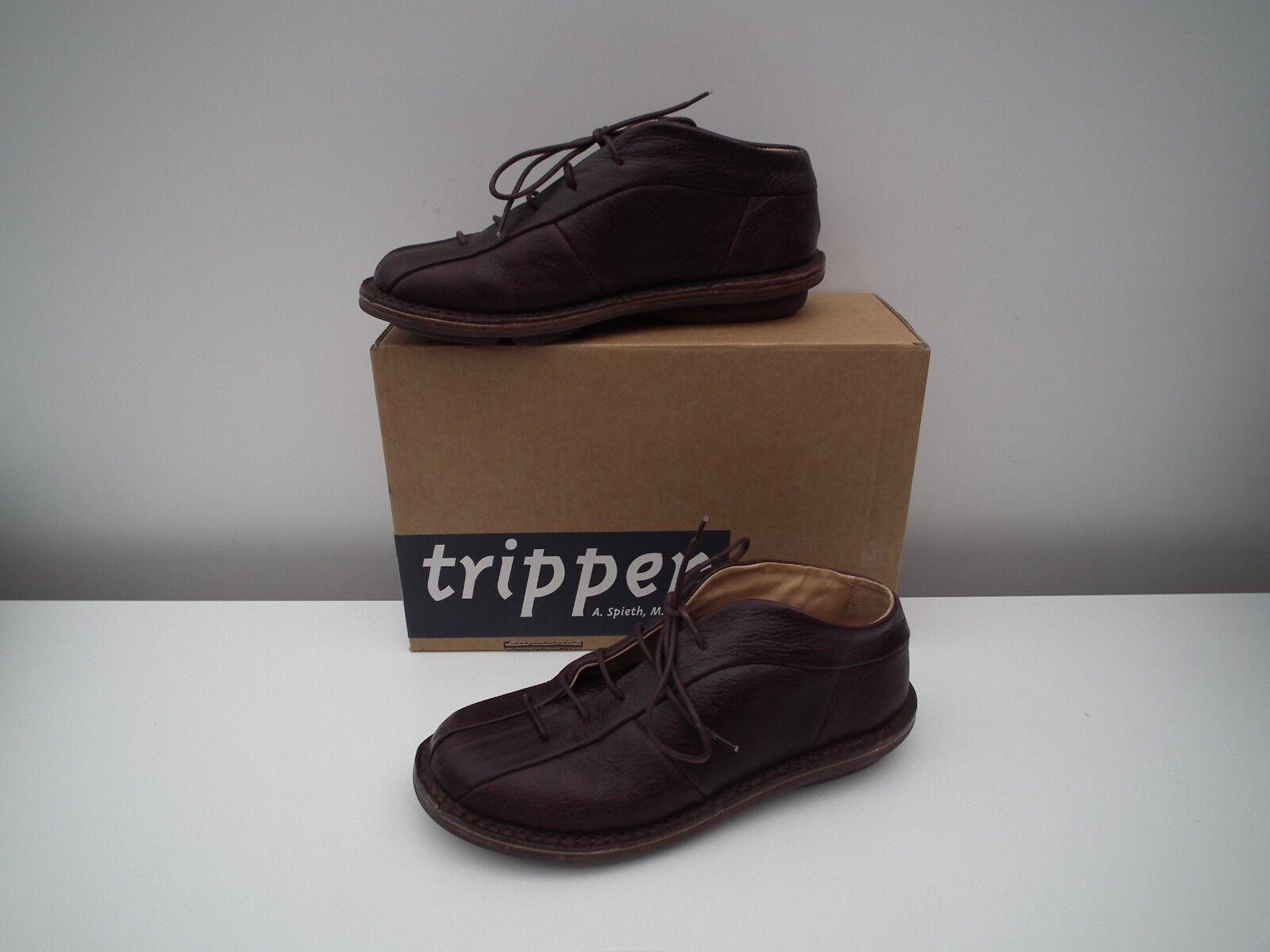 TRIPPEN  Comfortable Comfortable Comfortable aubergine leather schuhe  Größe 37 - US 7 a2ed62